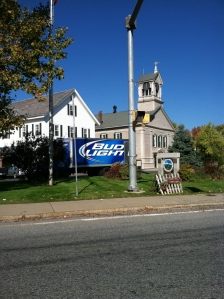 Ah, picturesque Lunenburg getting its BudLight delivery.