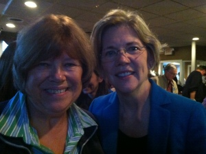 My mom was excited to meet Elizabeth Warren!