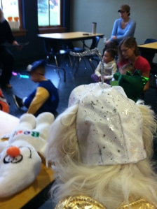 A Halloween themed story-hour at the local library.
